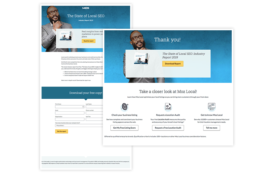 double your dating landing page